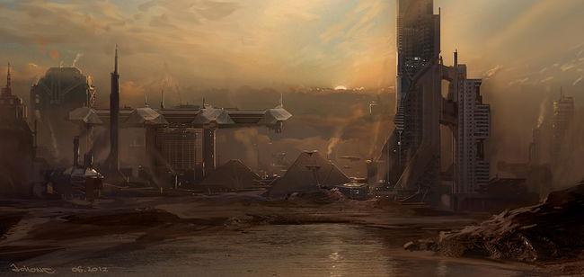 Dystopian Movie Desert Racing Windsail Cars